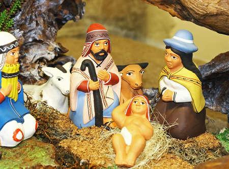 crib Nativity ethnic with the Holy family of Nazareth Stock Photo - 16510449