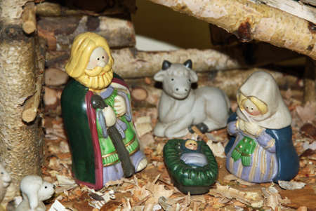 Presepe con il presepe con figure photo