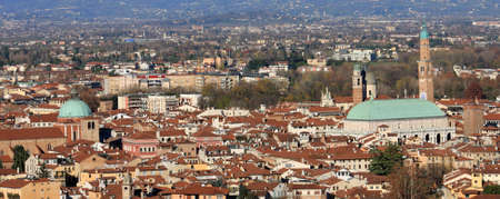 Panorama of the Italian city of vicenza with the Basilica and the high tower Stock Photo - 16700280