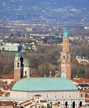 Panorama of the Italian city of vicenza with the Basilica and the high tower Stock Photo - 16704759