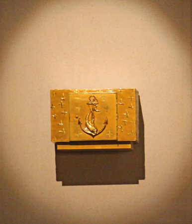 god box: golden tabernacle with the consecrated hosts in the church