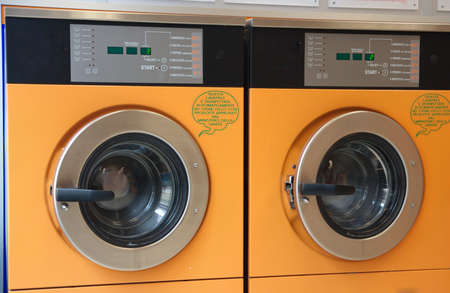 orange automatic washing machines photo