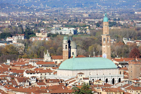 Panorama of the Italian city of vicenza with the Basilica and the high tower Stock Photo - 17661210
