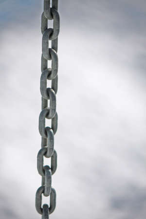 sturdy: sturdy stainless steel chain with rings all together vertically