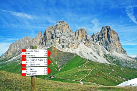 vajolet: Sasso lungo mountain landscape of the Dolomites