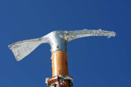 ice axe: big Toy ice axe and blue sky