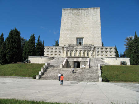 commemoration: Majestic memorial for the fallen soldiers of World War I in Italy