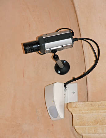 video surveillance camera and a radar double intrusion detection technology Stock Photo - 18386641