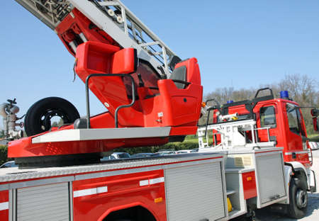 manoeuvre: cabin with a command console fire trucks to manoeuvre the automatic scaling when switching off a fire