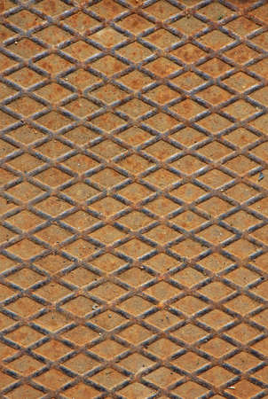 robustness: heavy diamonds grid iron used as industrial rust floor