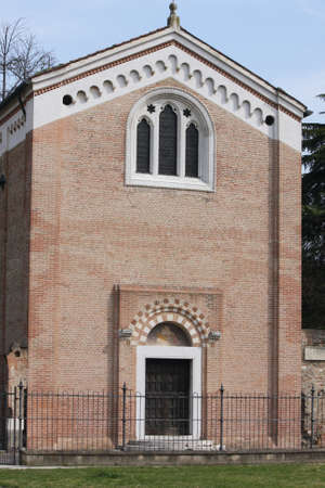 cappella: fachada exterior de la Capilla de los Scrovegni en Padua Foto de archivo