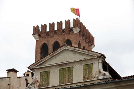 grappa: medieval building in the town of Bassano del Grappa  province of Vicenza in Italy
