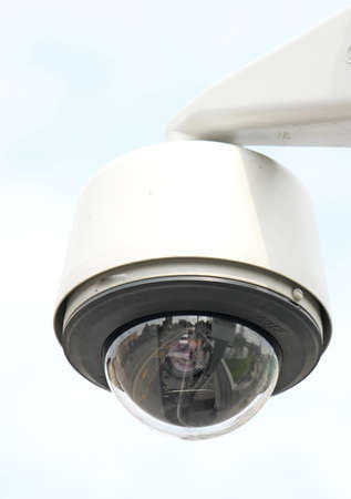 security camera to monitor the crossings citizens and supporters of the stadium Stock Photo - 18989455