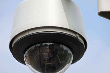 security camera to monitor the crossings citizens and supporters of the stadium . Stock Photo - 18989457