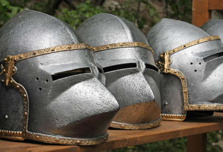 knights templar: medieval helmets of ancient a mighty iron armor used by the Knights Templar