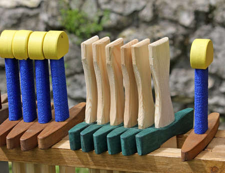 wooden toy swords for sale at the ancient games stand Stock Photo - 19612825