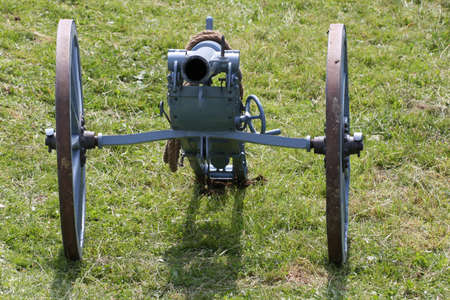 a war historian: original WWI Cannon ready to be used during an event