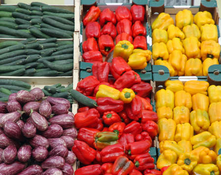 boxes full of fresh fruits and vegetables and seasonal fruit and vegetable market at retail and wholesale 2