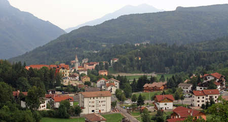 characteristic: characteristic mountain village called tonezza del cimone in the province of vicenza in Italy