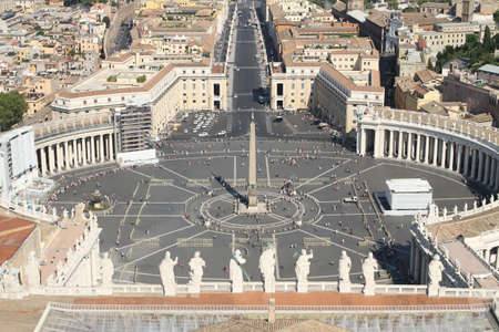 beautiful breath taking panoramic view of St. Peter's square in Vatican City 2 photo