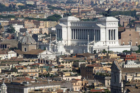 Vittoriano monument dedicated to Vittorio Emanual II King in the center of Rome photo