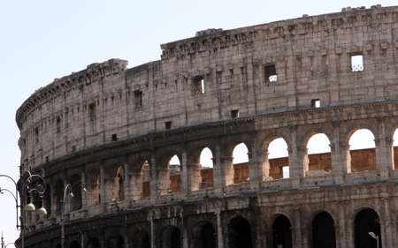 Ancient Flavian Amphitheatre Called the COLOSSEUM the symbol of Italy in Rome 1 photo