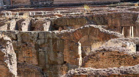 ancient cellars and secret passages of the Colosseum in Rome Italy photo
