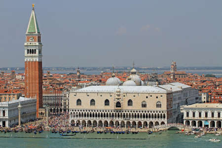 st  marks square: spectacular piazza san marco in Venice with the high Bell Tower and the Ducal Palace in Italy 3