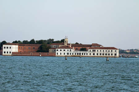 bedlam: towers and building of the University on the island of San Servolo in Venice