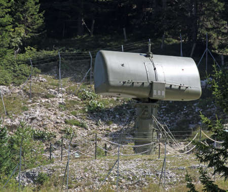 military camouflage huge radar for reconnaissance of enemy planes during the war 4