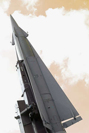 middle east crisis: rocket with military explosive warhead for the war in a secret base millitary 1