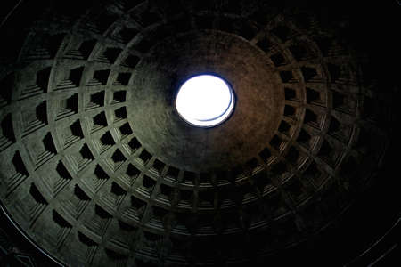 roof of the pantheon in Rome with the characteristic ceiling with a hole Stock Photo - 22054836