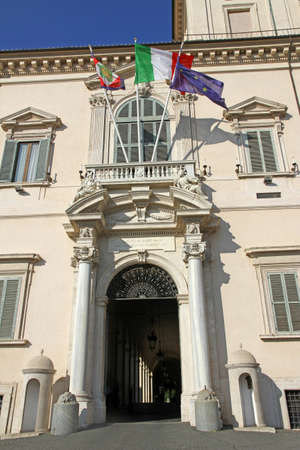 majestic entrance of the palazzo del quirinale where houses the President of Italian Republic photo