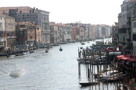 rialto bridge: from rialto bridge in Venice with the Grand cana