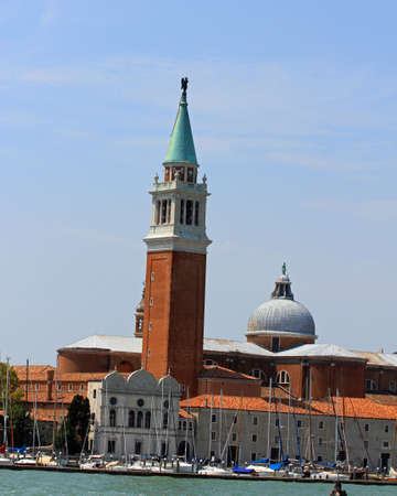 imposing and historic Bell Tower of the Church of San Giorgio in Venice Stock Photo - 22557615