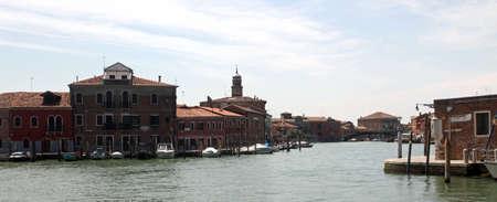 murano: main huge waterway in the island of Murano near Venice Stock Photo