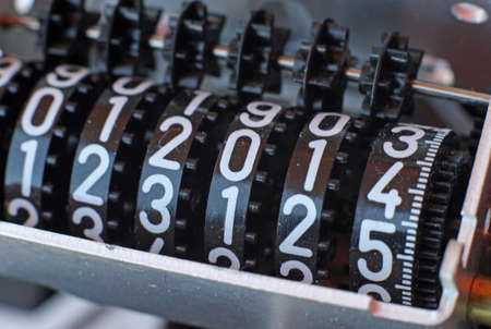 counter with gears and the number 2014 displayed photo
