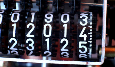 big counter with the number 2014 in the meter photo