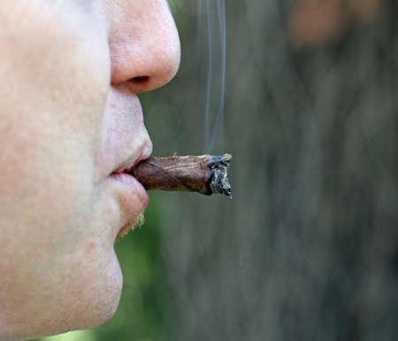 avid: Tuscan cigar smoked by an avid smoker man 2
