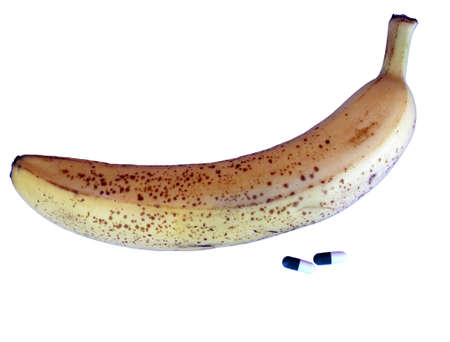cavernosum: yellow banana with pills for male issues