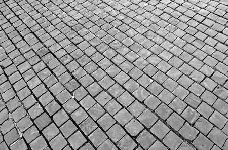 st  peter s square: paving with cobblestones in St. Peters square at the Vatican