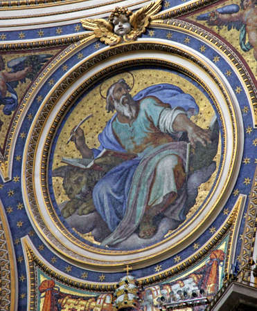 Gold coloured mosaic in the Basilica of St.Peter in the Vatican photo