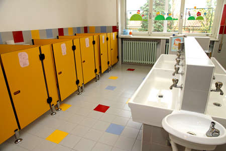 childrens bathrooms of a kindergarten