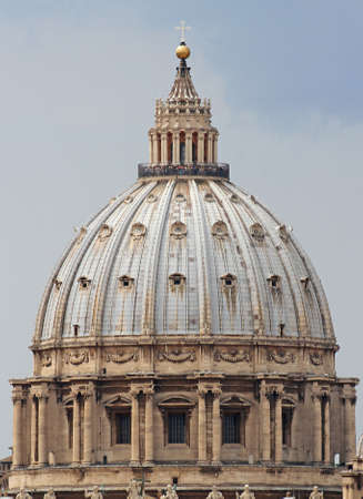 st  peter s square: detail of the dome of the Church of Saint Peter in Rome