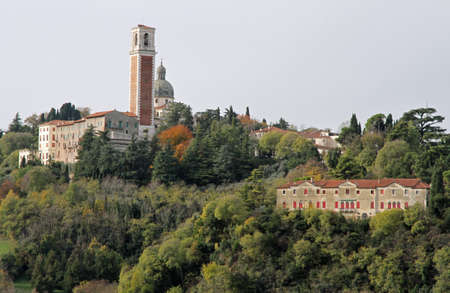 mariano: The basilica of our Lady of Monte Berico in Vicenza in the midst of the Hill