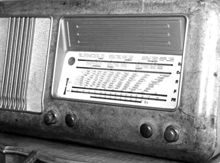 sports programme: Italian superheterodyne transistor radio under the name of radio stations and the adjustment knobs