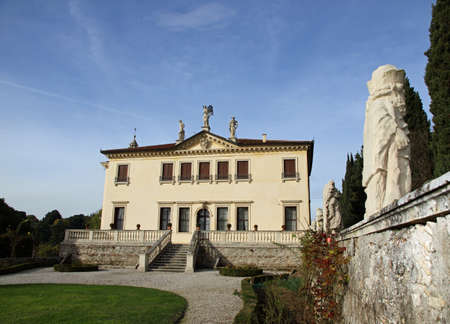 garden of the famous Venetian Villa Valmarana ai nani in the city of Vicenza in Italy 1