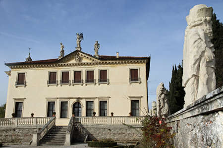 famous Venetian Villa Valmarana ai nani in the city of Vicenza in Italy