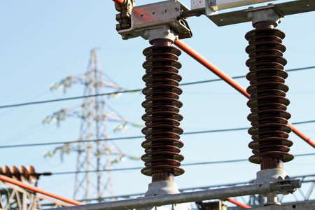 ampere: Electrical insulators, a high-voltage power station