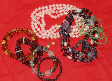 many vintage necklaces on sale at the jeweler shop 2 photo